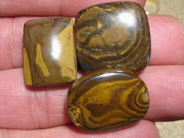 YowahOpals*103.30Cts-'Drilled' 3 Boulder Opal Parcel.