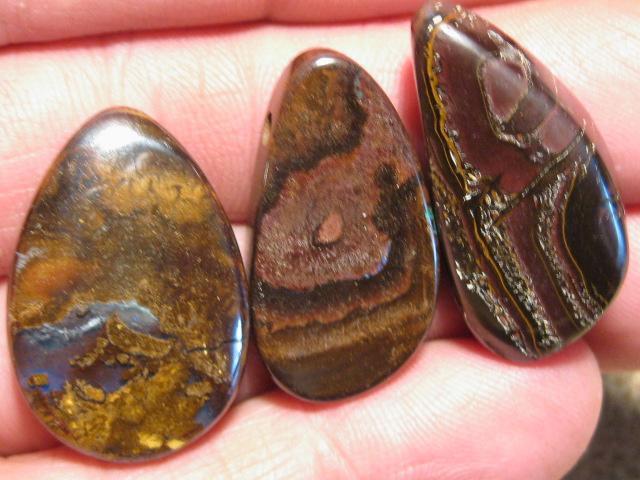 YowahOpals*122.05Cts-'Drilled' 3 Boulder Opal Parcel.