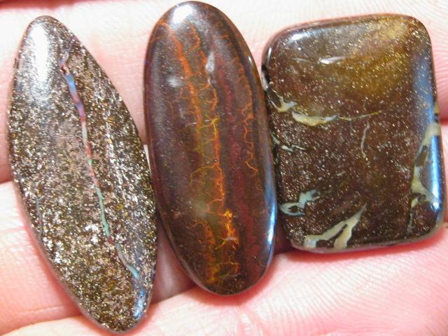 YowahOpals*96.75Cts-'Drilled' 3 Boulder Opal Parcel.