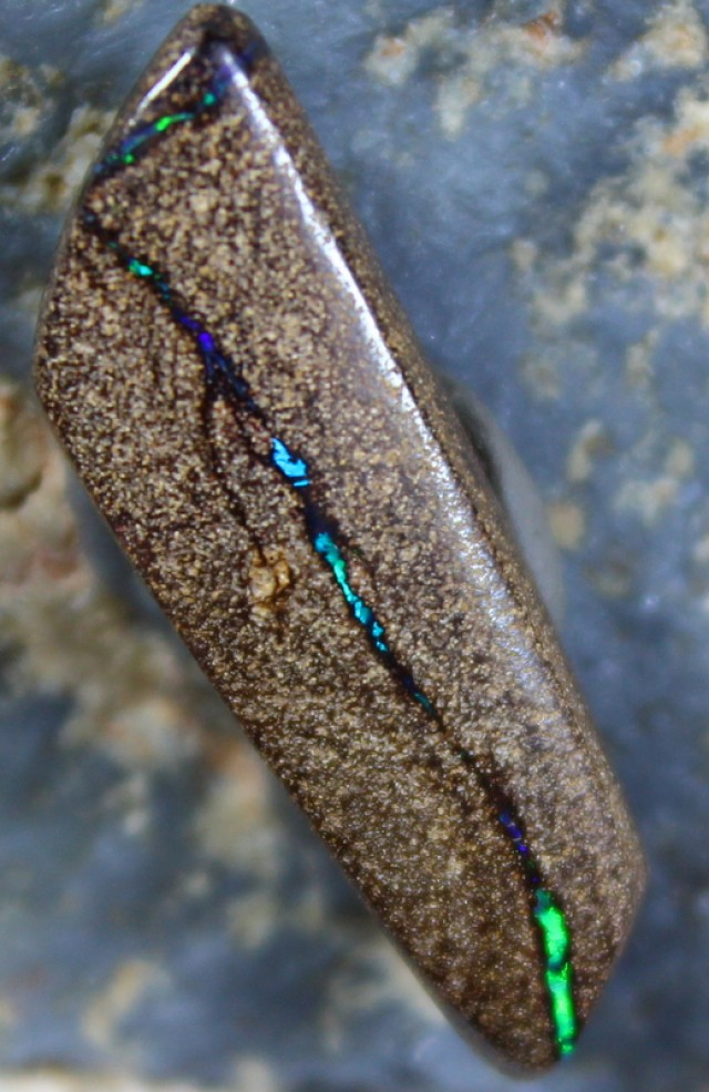 11.45 CTS BOULDER OPAL POLISHED STONE BLUE COLORS C5616