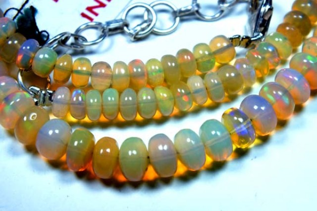 53  CTS  ETHIOPIAN OPAL BEADS DRILLED     FOB-134