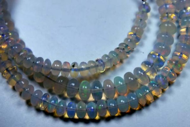 55  CTS  ETHIOPIAN OPAL BEADS DRILLED    FOB-140