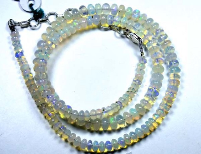 54  CTS  ETHIOPIAN OPAL BEADS DRILLED    FOB-143