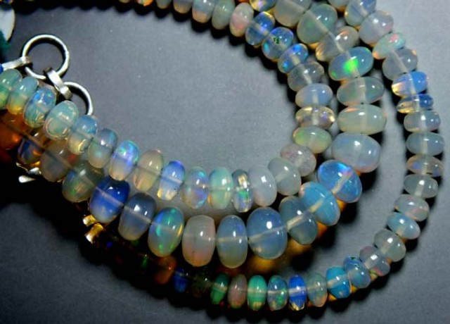 47 CTS  ETHIOPIAN OPAL BEADS DRILLED     FOB-145