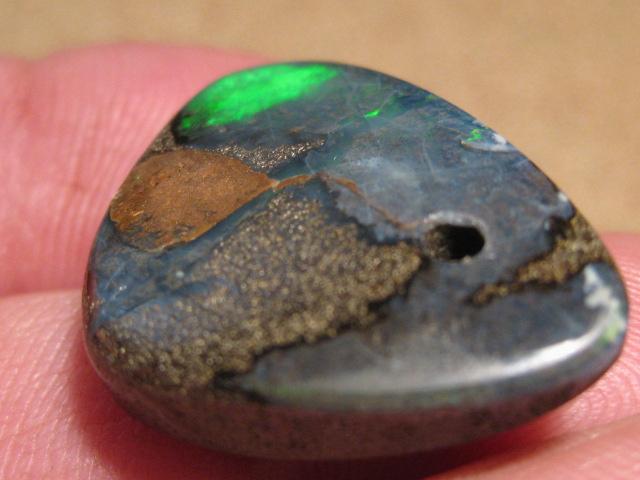 YowahOpals*30.4Cts-'Drilled' Australian Boulder Opal.