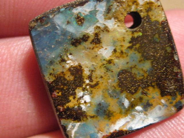 YowahOpals*30.9Cts-'Drilled' Australian Boulder Opal.