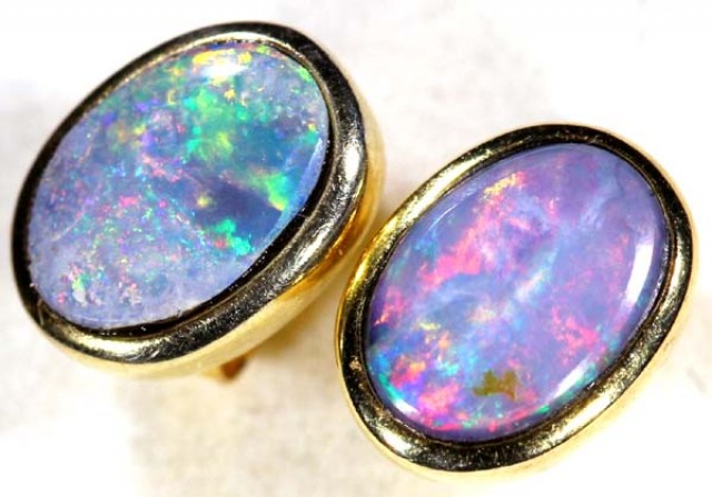 OPAL EARRINGS  5.8  CTS    OF-344