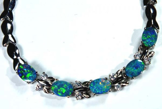 OPAL INLAY BRACELET  49.6  CTS OF-383