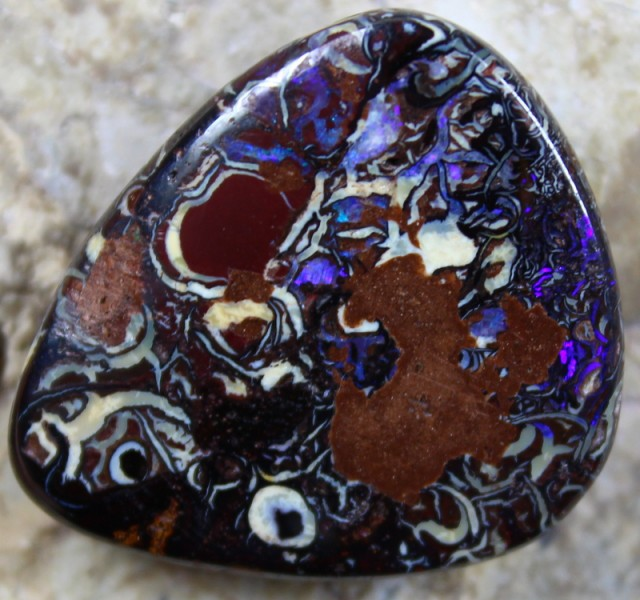 56.75 CTS YOWAH OPAL PATTERN STONE TOP POLISH NATURALLY APPEALING C5708