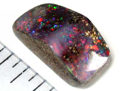 RED SHIMMER FIRE FLASH BOULDER OPAL 5.5 CTS GR211