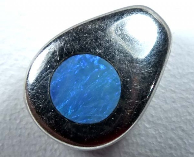 3.50 CTS  INLAY OPAL PENDANT    TBO-1458