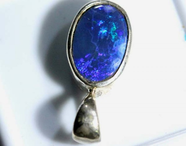 DOUBLET OPAL SILVER PENDANT 8.0  CTS   OF-