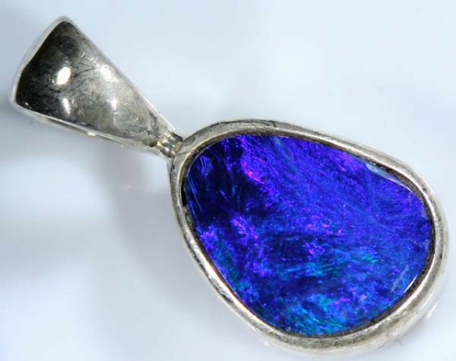 DOUBLET OPAL SILVER PENDANT  6.0  CTS   OF-415