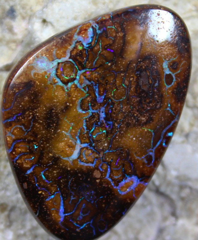 38.75  CTS YOWAH OPAL PATTERN STONE TOP POLISH NATURALLY APPEALING C5741