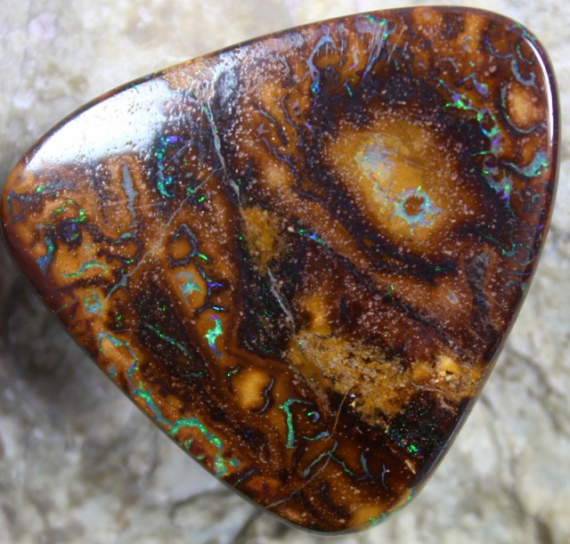 63.00 CTS YOWAH OPAL PATTERN STONE TOP POLISH NATURALLY APPEALING C5797