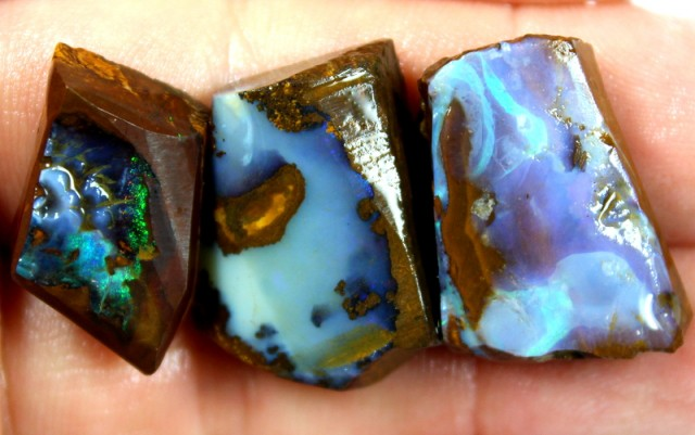 103.30 CTS BOULDER OPAL PARCEL 3 PCS RUBS READY FOR CUTTING