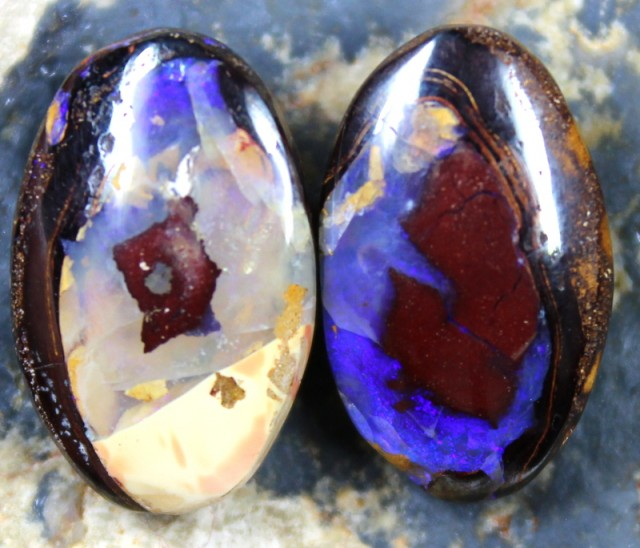 21.50  CTS YOWAH OPAL PAIRS GREAT FOR EARRINGS C6097