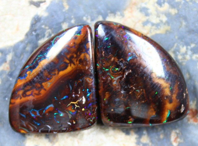 32.95 CTS YOWAH OPAL PAIRS GREAT FOR EARRINGS C6098