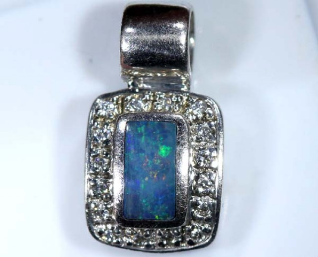 OPAL SILVER INLAY  PENDANT 7.0  CTS  OF-444