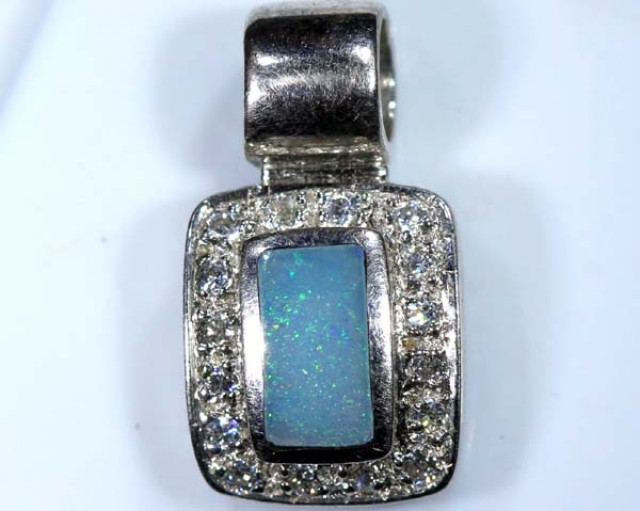 OPAL SILVER INLAY  PENDANT 6.50 CTS  OF-446
