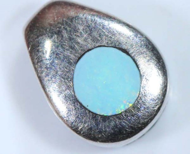 OPAL SILVER INLAY  PENDANT 4.0 CTS  OF-451