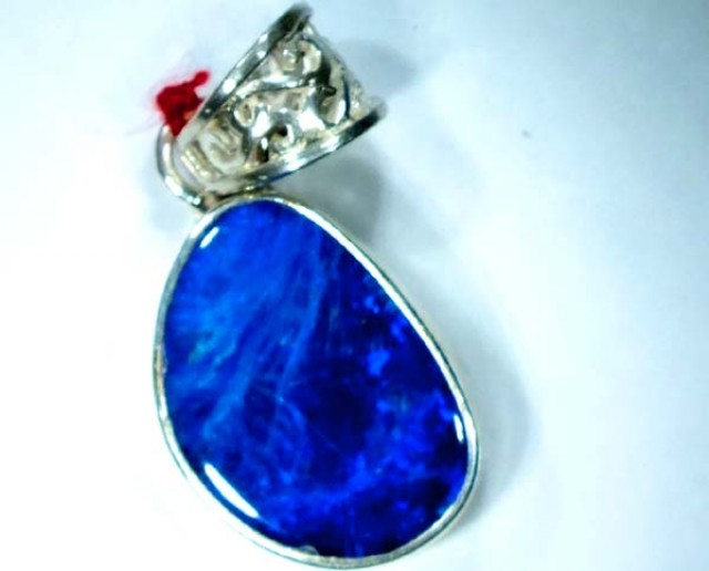 DOUBLET OPAL SILVER PENDANT  12.5 CTS   OF-469