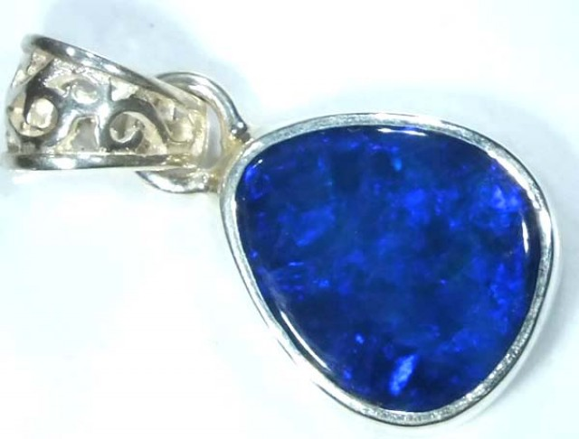 DOUBLET OPAL SILVER PENDANT  6.8 CTS   OF-475