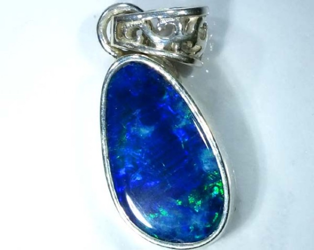 DOUBLET OPAL SILVER PENDANT  8.0 CTS   OF-478