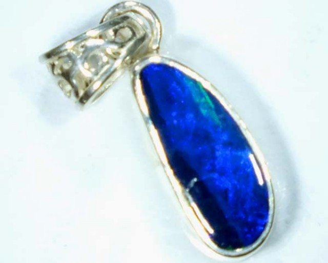 DOUBLET OPAL SILVER PENDANT 6.5  CTS   OF-479