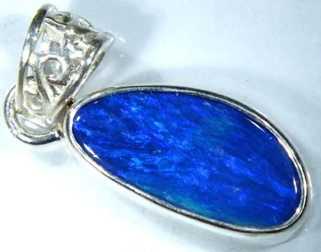 DOUBLET OPAL SILVER PENDANT  7.5 CTS   OF-487