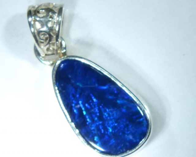 DOUBLET OPAL SILVER PENDANT 8.5  CTS   OF-490