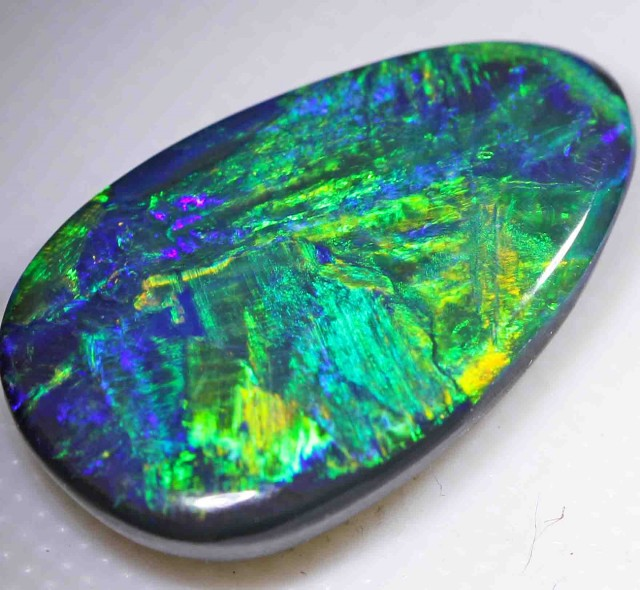 7.60 ct   BRIGHT BLACK OPAL FROM LR   552177