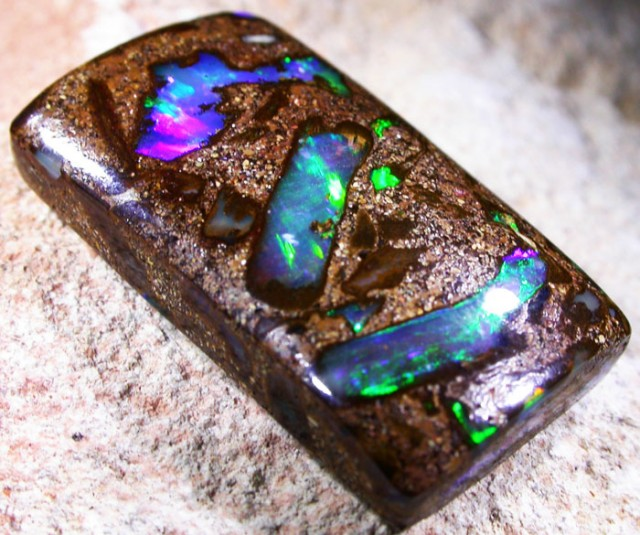 NEON BRIGH WOOD FOSSIL OPAL  [SO2990]SH