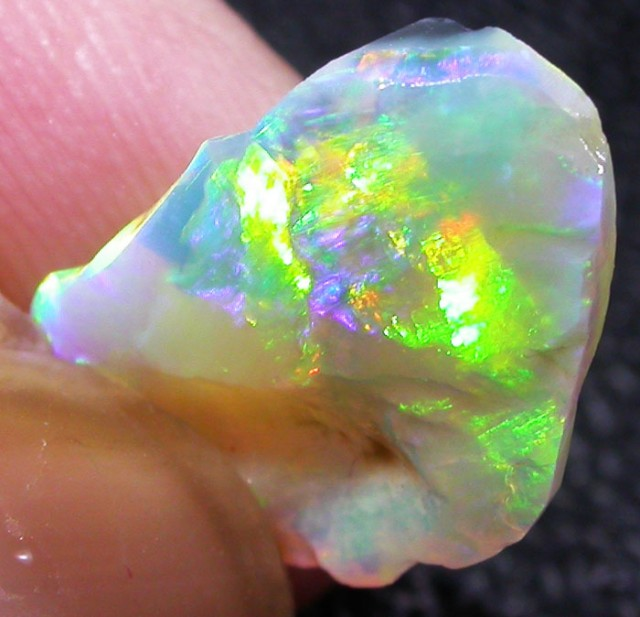1.7 CTS FACED BLACK OPAL ROUGH-LIGHTNING RIDGE [BR2697]