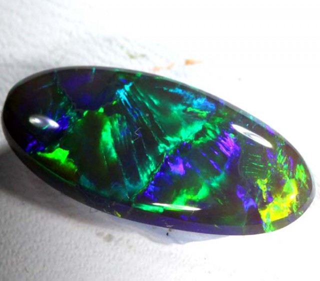 QUALITY BLACK SOLIDOPAL LIGHTNINGRIDGE 3.6 CTS JJ-A6