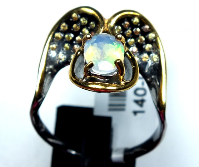 ETHIOPIAN OPAL RING STERLING SILVER 27.0 CTS    OF-587