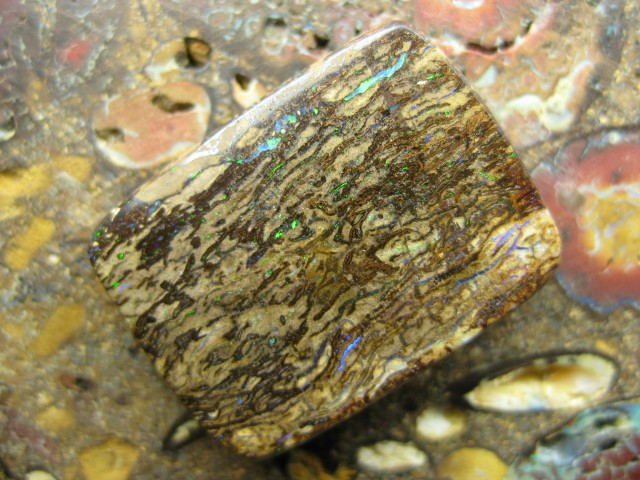 C/O 20cts,FROM OUR MINES! BOULDER MATRIX OPAL.