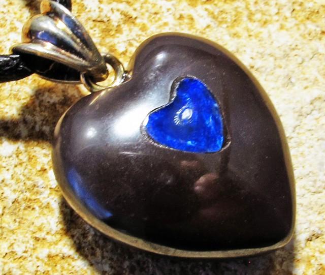 23.38 CTS Cute Heart Shape Inlay Pendant MMR 1730