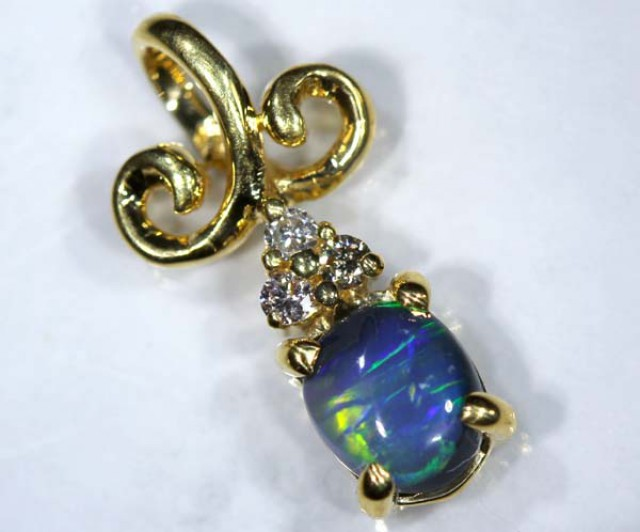 BLACK OPAL 18K GOLD PENDANT 7.80  CTS     OF-606