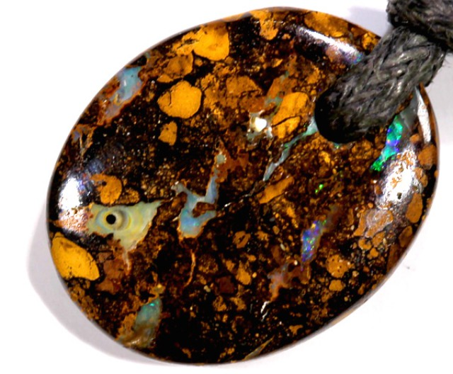 BOULDER OPAL PENDANTS DRILLED  12.6 CTS  LO-955