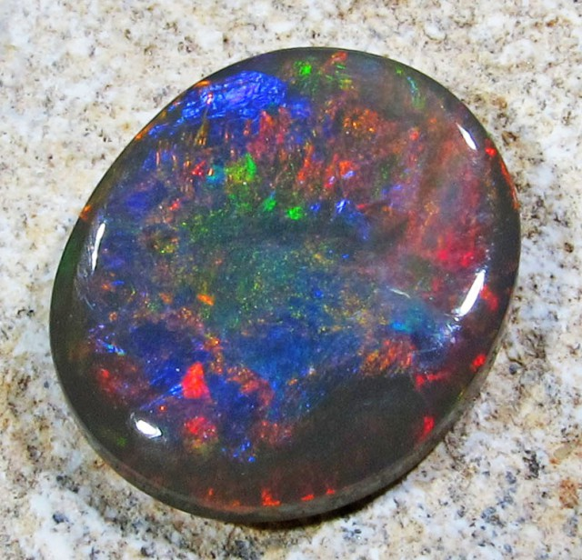 2.70 Cts leady Red fire Black opals PL 1258