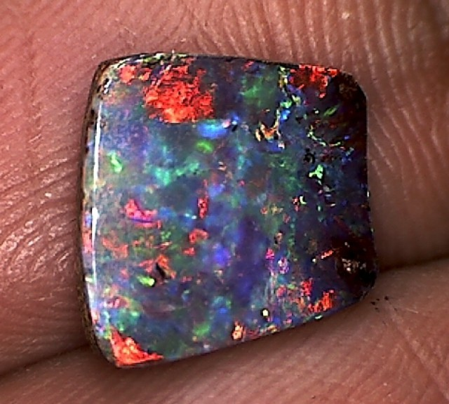 2.1c Lovely Black Boulder Opal Flashy Colours Australia CG07