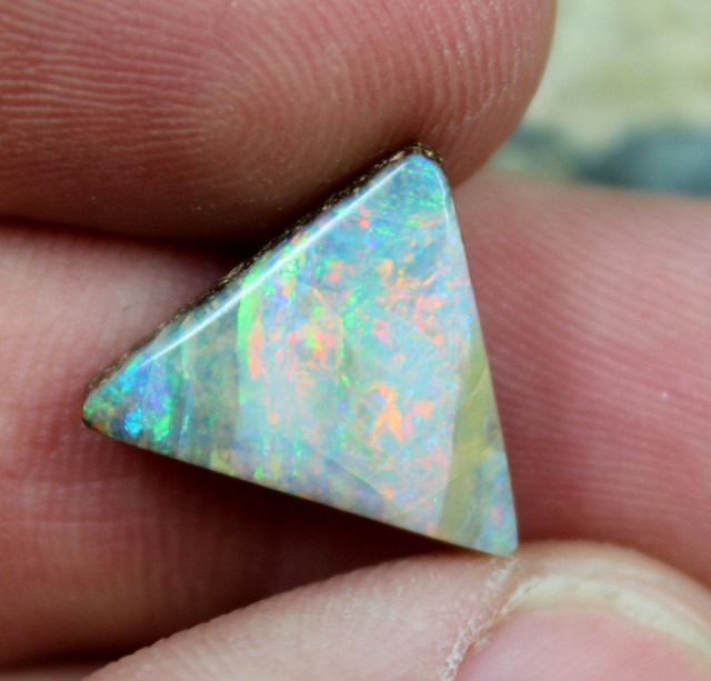 6.80 CTS BOULDER OPAL MULTI COLOR FIRE POLISHED STONE C7166