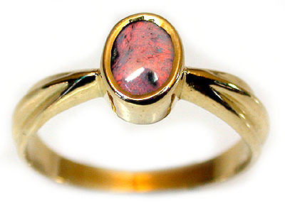 PINK RED BLACK OPAL RING SIZE 7 SCO496