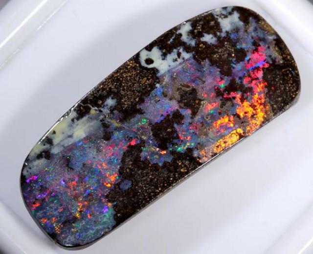 Solid Multi Color Boulder Opal, Australia  9.20 CTS   MH-116