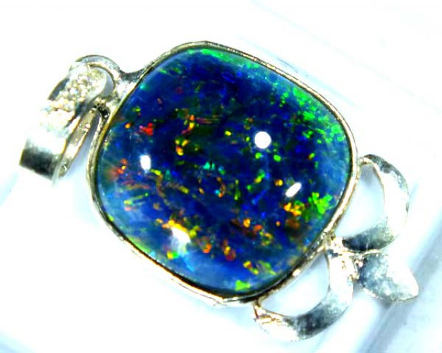 TRIPLET OPAL PENDANT SILVER 17.90  CTS OF-686