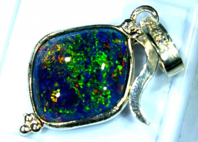 TRIPLET OPAL PENDANT SILVER 14.15  CTS OF-689