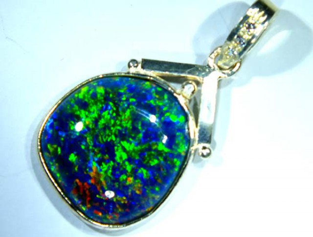 TRIPLET OPAL PENDANT SILVER  18.0 CTS OF-697