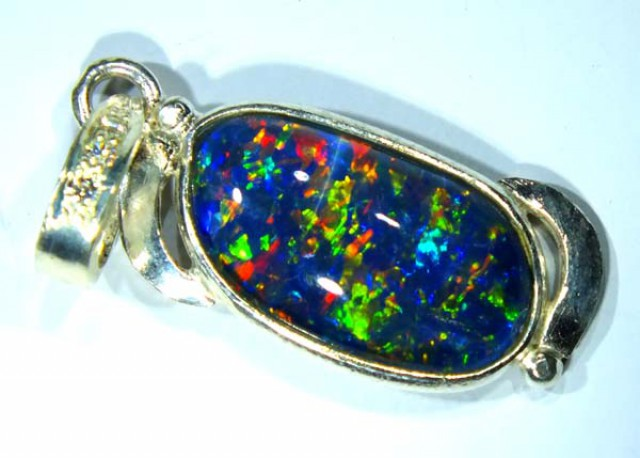 TRIPLET OPAL PENDANT SILVER 12.0  CTS OF-700