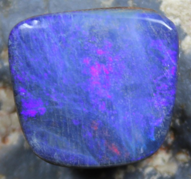 12.10  CTS OPAL DOUBLET CABOCHON IRONSTONE BACKING